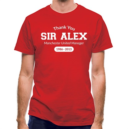 CHEAP Thank You Sir Alex classic fit. 25414497957 – Novelty T-Shirts