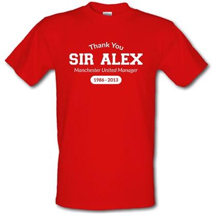 CHEAP Thank You Sir Alex male t-shirt. 720958982 – Novelty T-Shirts