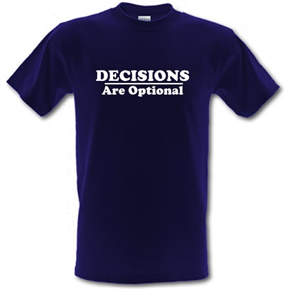 CHEAP Decisions are  Optional male t-shirt. 721694294 – Novelty T-Shirts