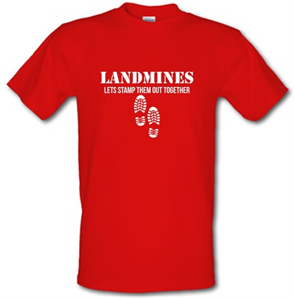 CHEAP Landmines lets stamp them out together male t-shirt. 721694298 – Novelty T-Shirts
