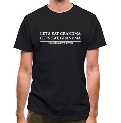 CHEAP Lets Eat Grandma – Commas Save Lives classic fit. 25414495177 – Novelty T-Shirts