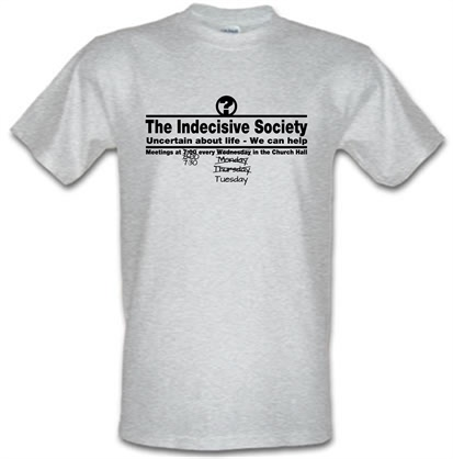 CHEAP The Indecisive Society male t-shirt. 722373348 – Novelty T-Shirts