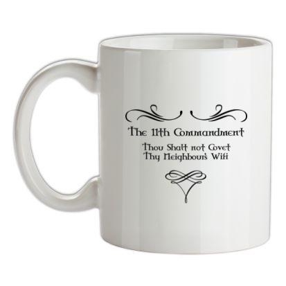 CHEAP Thou shalt not covert thy neighbour's wifi mug. 24074194633 – Novelty T-Shirts