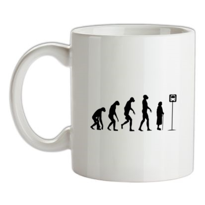 CHEAP Evolution – Bus Stop mug. 24074190195 – Novelty T-Shirts