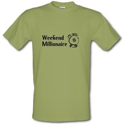 CHEAP Weekend Millionaire male t-shirt. 728991254 – Novelty T-Shirts