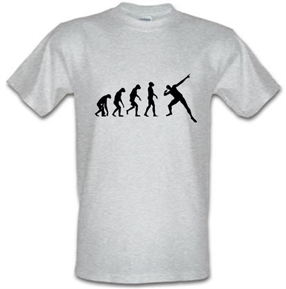CHEAP Evolution – Usain Bolt male t-shirt. 730227856 – Novelty T-Shirts
