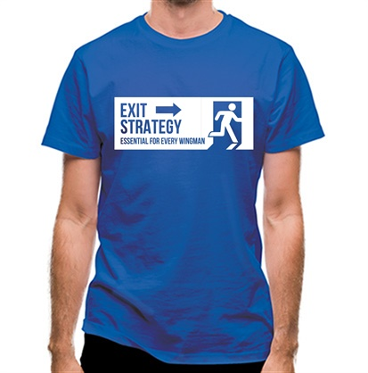 CHEAP exit strategy essential for every wingman classic fit. 25414492369 – Novelty T-Shirts
