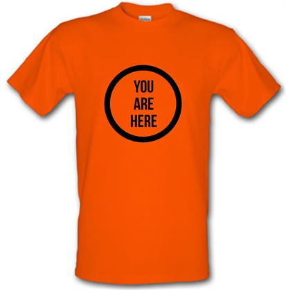 CHEAP You are Here male t-shirt. 730227900 – Novelty T-Shirts