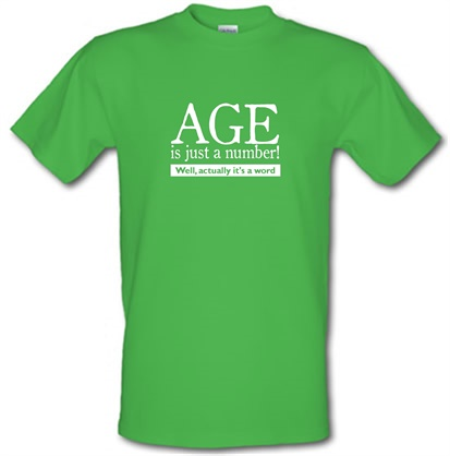 CHEAP age is just a number- actually its a word male t-shirt. 743916480 – Novelty T-Shirts