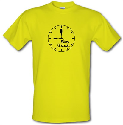CHEAP Wine O'Clock male t-shirt. 744231570 – Novelty T-Shirts