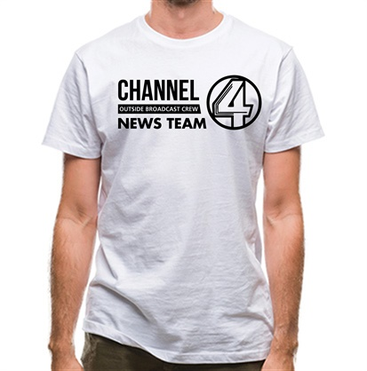 CHEAP Anchorman – channel 4 outside broadcast classic fit. 25414490399 – Novelty T-Shirts