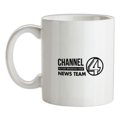 CHEAP Anchorman – channel 4 outside broadcast mug. 24074188425 – Novelty T-Shirts