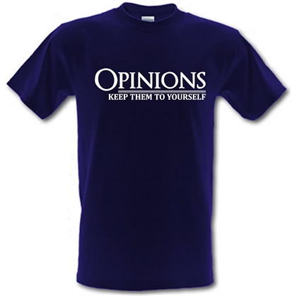 CHEAP Opinions-Keep Them to Yourself male t-shirt. 743916502 – Novelty T-Shirts