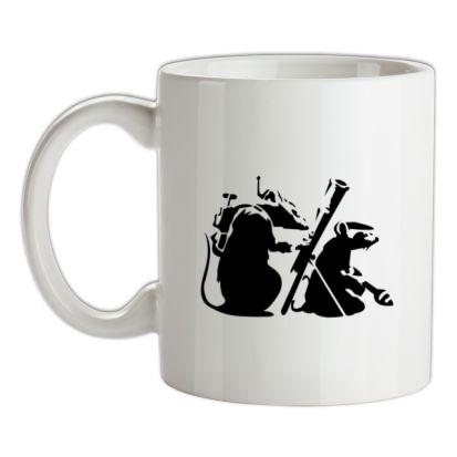 CHEAP Banksy – guerilla rats mug. 24074188661 – Novelty T-Shirts