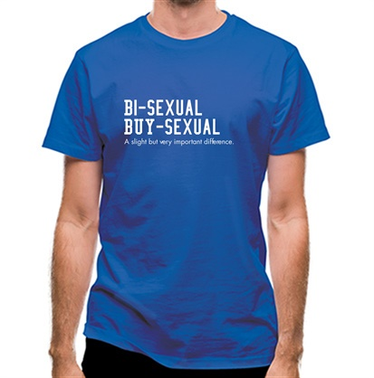 CHEAP bisexual buysexual a slight but very important difference classic fit. 25414490899 – Novelty T-Shirts