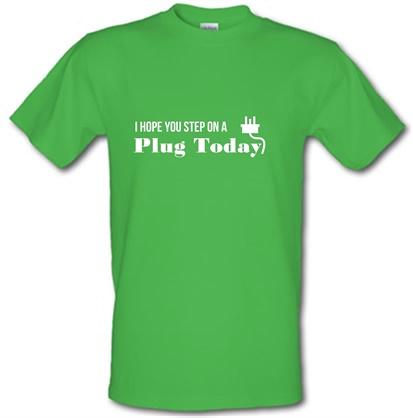 CHEAP I hope you step on a plug today male t-shirt. 745614032 – Novelty T-Shirts