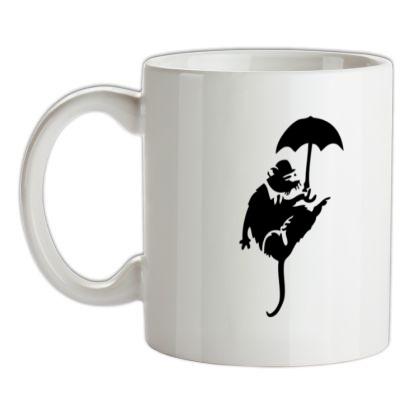 CHEAP Banksy Flying Rat mug. 24074188655 – Novelty T-Shirts