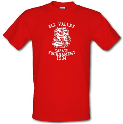 CHEAP All Valley Karate Tournament male t-shirt. 745832154 – Novelty T-Shirts