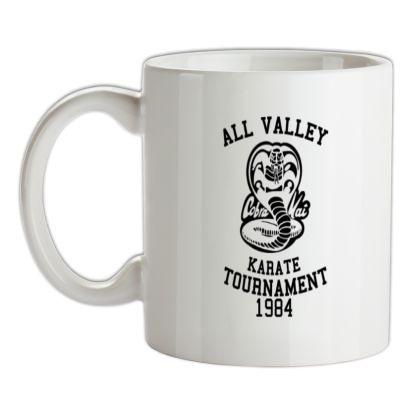 All Valley Karate Tournament mug.