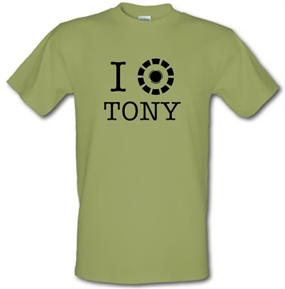 CHEAP I Heart Tony Stark male t-shirt. 748259406 – Novelty T-Shirts