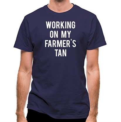 CHEAP Working On My Farmer's Tan classic fit. 25414499055 – Novelty T-Shirts