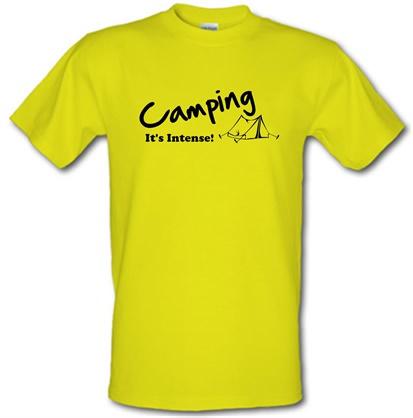 CHEAP Camping It's Intense! male t-shirt. 751205636 – Novelty T-Shirts