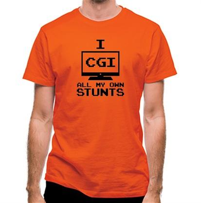 CHEAP I CGI All My Own Stunts classic fit. 25414493545 – Novelty T-Shirts