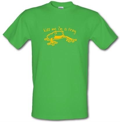 CHEAP Kiss me i'm a frog male t-shirt. 51135645 – Novelty T-Shirts