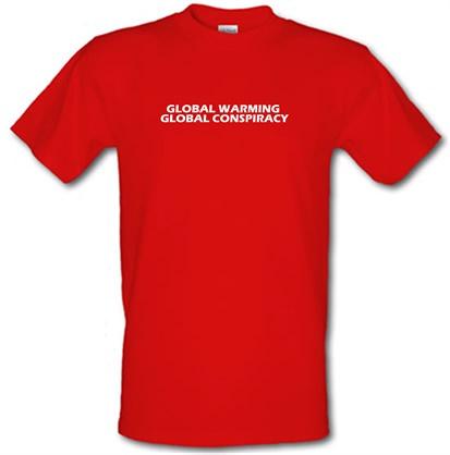 CHEAP Global warming global conspiracy male t-shirt. 51135511 – Novelty T-Shirts