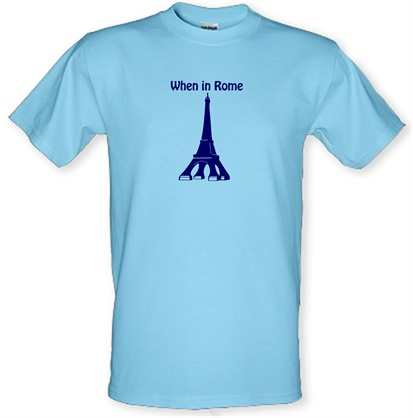 CHEAP When in Rome male t-shirt. 51135966 – Novelty T-Shirts
