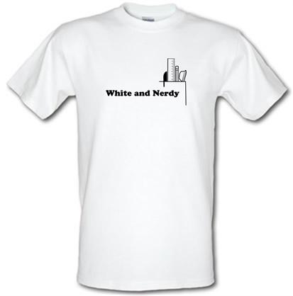 CHEAP White and Nerdy male t-shirt. 51135970 – Novelty T-Shirts