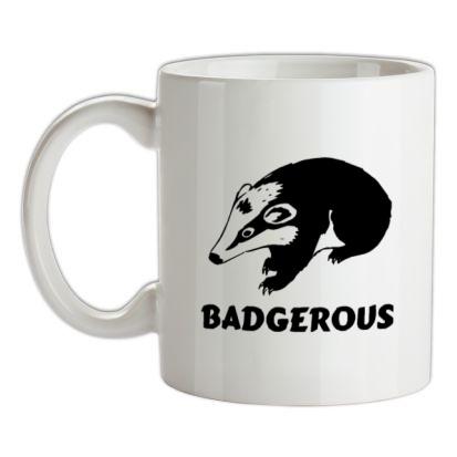 CHEAP Badgerous mug. 24074188617 – Novelty T-Shirts