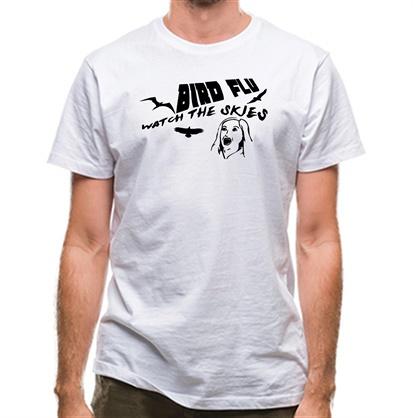CHEAP Bird Flu watch the skies classic fit. 25414490893 – Novelty T-Shirts