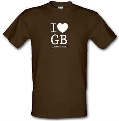 CHEAP I Love GB (Gordon Brown) male t-shirt. 51135527 – Novelty T-Shirts