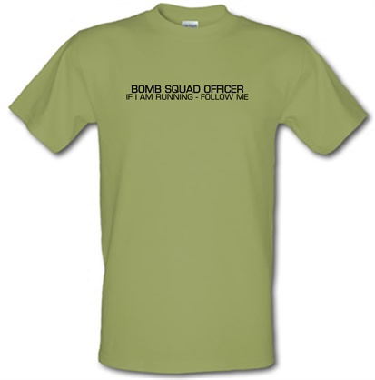 CHEAP Bomb Squad Officer male t-shirt. 51135354 – Novelty T-Shirts