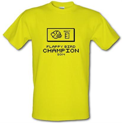 Flappy Bird Champion male t-shirt.