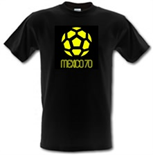 Image of 1970 World Cup Mexico male t-shirt.