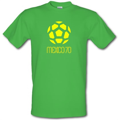 Imagem de 1970 World Cup Mexico male t shirt.