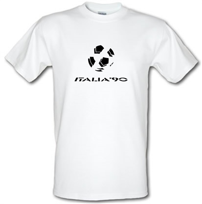 Imagem de 1990 World Cup Italia male t shirt.