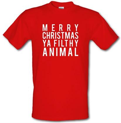 Merry Christmas Ya Filthy Animal male tshirt.