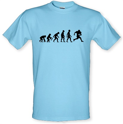 Evolution Of Man American Football male tshirt.