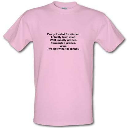 CHEAP I'm Having Wine/Fruit For Dinner male t-shirt. 3566505455  Novelty T-Shirts