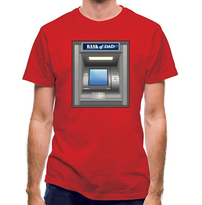 CHEAP Dad ATM classic fit. 25414491605  Novelty T-Shirts