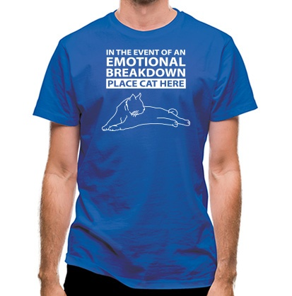 CHEAP In Case Of Emotional Breakdown Place Cat Here classic fit. 25414494371  Novelty T-Shirts