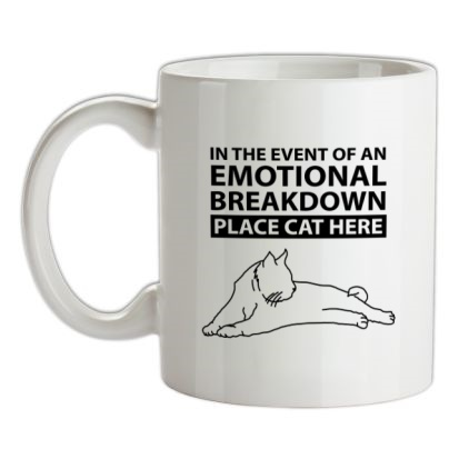 CHEAP In Case Of Emotional Breakdown Place Cat Here mug. 24074192021  Novelty T-Shirts