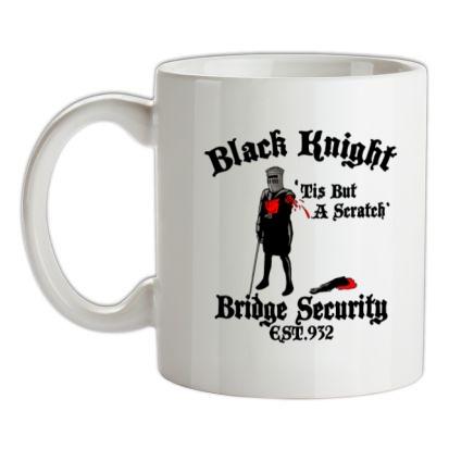 CHEAP Black Knight Bridge Security mug. 24074188911  Novelty T-Shirts