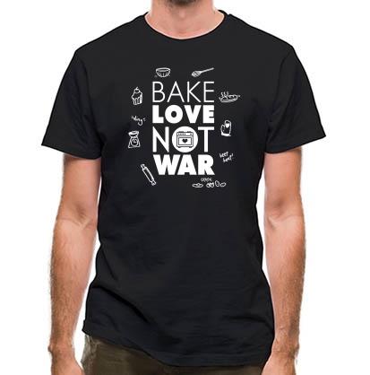CHEAP Bake Love Not War classic fit. 25414490617  Novelty T-Shirts