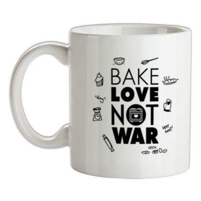 CHEAP Bake Love Not War mug. 24074188631  Novelty T-Shirts