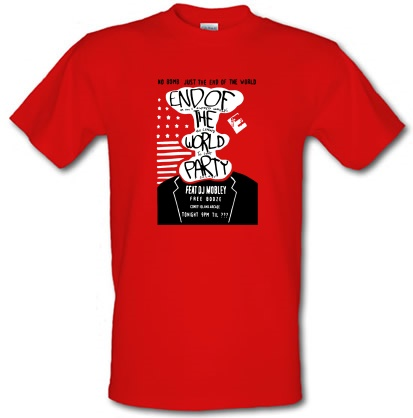 CHEAP End Of The World Party male t-shirt. 3649547029  Novelty T-Shirts