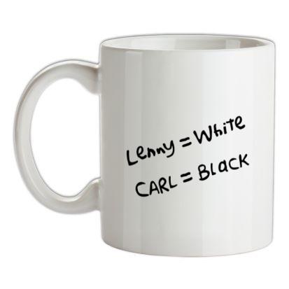 CHEAP Lenny White – Carl Black. Homer Hand mug. 24074192651  Novelty T-Shirts